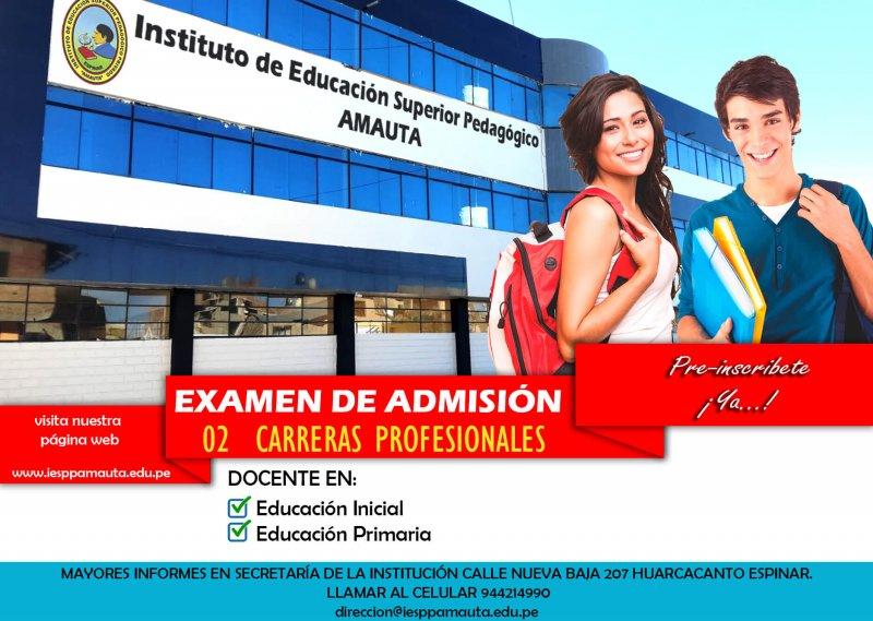 Examen de Admisión Instituto Amauta Espinar 2020-I